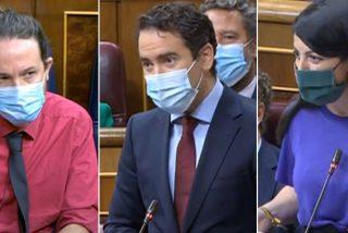 """García Egea (PP) y Macarena Olona (VOX) piden a Iglesias que abandone el Congreso: """"¡Dimitir no es un nombre ruso!"""""""