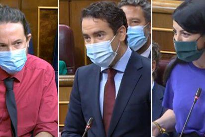 García Egea (PP) y Macarena Olona (VOX) piden a Iglesias que abandone el Congreso