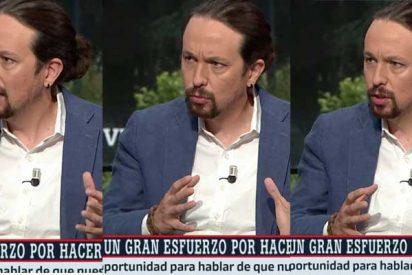 """Las redes se burlan del nuevo look de Pablo Iglesias: """"El moño y el pendiente son consejo de Iván Redondo"""""""