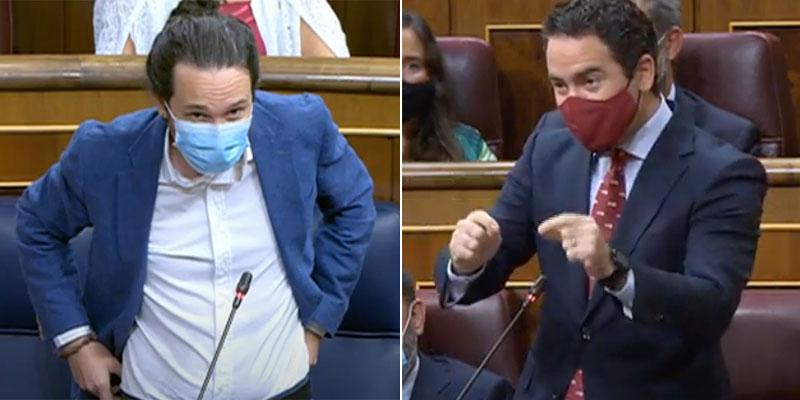 García Egea (PP) trolea tanto a Iglesias que el vicepresidente de Sánchez se revuelve intentando ofenderle por su acento murciano