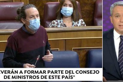 La enésima de Vicente Vallés retratando en el telediario al vicepresidente más matón y totalitario