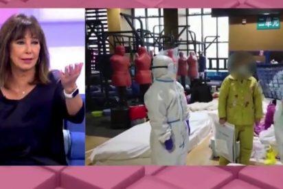 Ana Rosa Quintana se disculpa por ilustrar con imágenes de China la saturación de los hospitales de Madrid