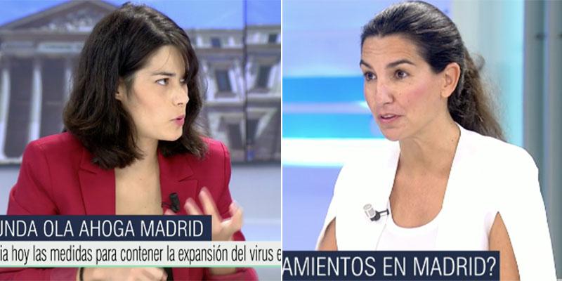 """Rocío Monasterio deja KO a la gritona y condenada podemita Isa Serra en Telecinco: """"¡No nos vais a dar lecciones los que nos llevasteis al 8-M!"""""""