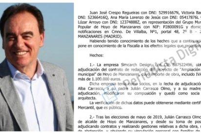 El alcalde de Hoyo de Manzanares adjudica la obra del polideportivo municipal a la empresa de su hija