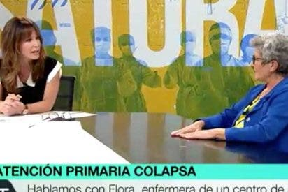 """Las redes sacuden a Mamen Mendizábal por llevar al plató a la enfermera anti-Ayuso: """"¿Forma ya parte de la plantilla de laSexta?"""""""