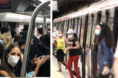 Agredidos dos vigilantes de Metro de Madrid por violentos que se negaron a ponerse la mascarilla
