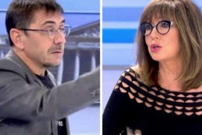 """Ana Rosa cierra la bocaza a Monedero: """"No tienes ni puta idea de a quién voto"""""""