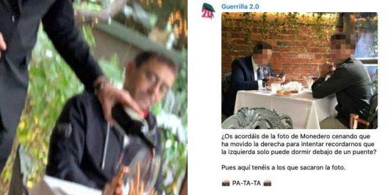 Los podemitas, rabiosos, difunden la imagen de los supuestos autores de la foto a Monedero para que sean agredidos