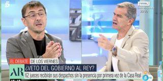 """Monedero se pone histérico en directo cuando llaman 'asesinos' a Bildu y Toni Cantó lo desprecia: """"¡Mentiroso, timador, matón!"""""""