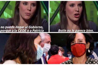 El vídeo que deja en bolas a Irene Montero tras intimar con Ana Patricia Botín