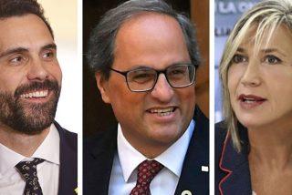 Julia Otero traslada su programa al Palau de la Generalitat: apoyo a Torra y 'juerga' con Roger Torrent