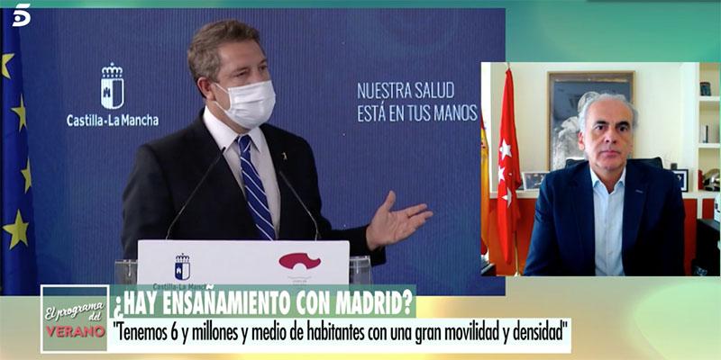 """Soberbio golpe de regreso de Madrid al bocazas de Page: """"Roza el ridículo"""""""