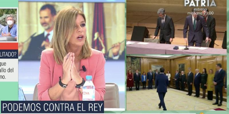 Cómo será de grave el tema para que Esther Palomera clame contra Podemos por su ataque al Rey