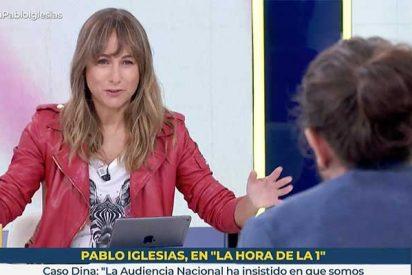 No cabe más desfachatez en esta TVE: Pablo Iglesias y su 'groupie' Ana Pardo de Vera piden retirarle el título de rey a Juan Carlos