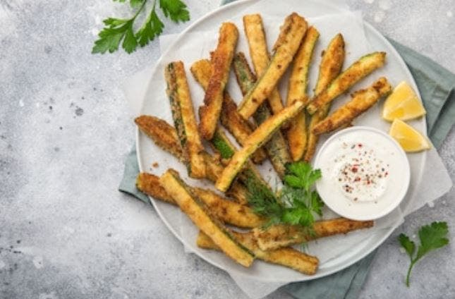 Patatas fritas de calabacín al horno