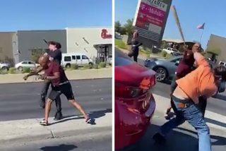 Brutal pelea en una autovía de Las Vegas con bates de béisbol y cadenas de acero