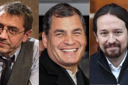 Casi 400.000 dólares: el 'precio' de Iglesias y Monedero para proteger al corrupto expresidente de Ecuador