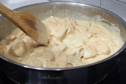 Deliciosa receta de pollo al cava con boletus, paso a paso