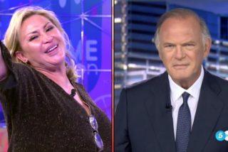 Vergüenza ajena en Telecinco: Raquel Mosquera saluda a Pedro Piqueras entre risitas y el corte es épico