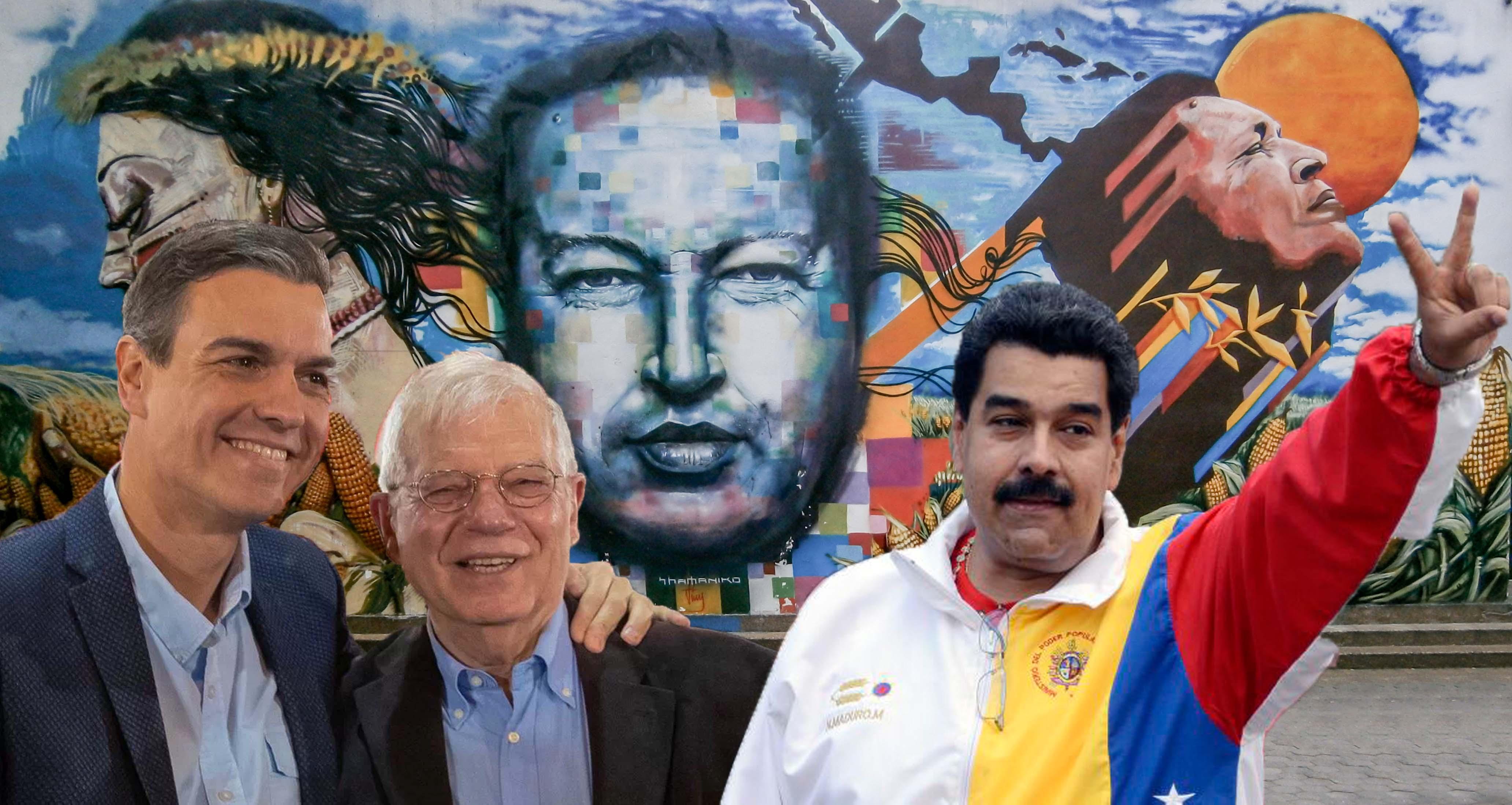 """Sánchez y Borrell pactan con Maduro el envío de una """"comisión privada"""" que legitime el fraude electoral chavista"""