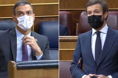"""Pablo Casado 'lanza el Rey' a la cara de Sánchez: """"¡El problema es usted!"""""""