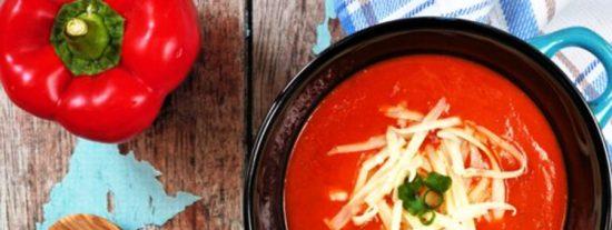 Sopa cremosa de pimiento Morrón asado