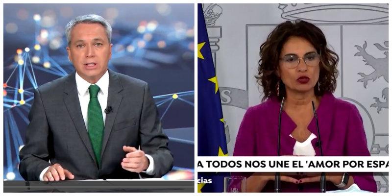"""El irónico comentario de Vicente Vallés tras asegurar Sánchez que ERC, PNV y Bildu comparten su """"amor por España"""""""