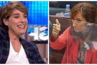 ¡La que faltaba! Anabel Alonso enaltece el gesto de la diputada de Más Madrid que simuló dar un tiro al consejero de Economía