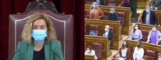 La presidenta del Congreso le calza un corte épico a la podemita que decidió que el Congreso guardara silencio por las víctimas del machismo