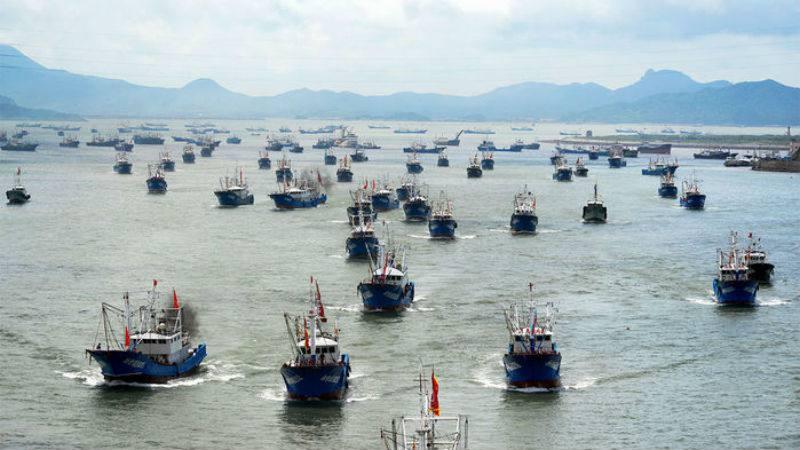 Piratas: Una flota de 340 barcos chinos está en Perú y se acerca a Chile para depredar sus recursos marítimos