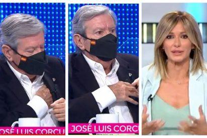"""El bestial susto de Corcuera en directo en Antena3: """"¡Ay! ¿Qué le ha pasado, un amago de infarto?"""""""