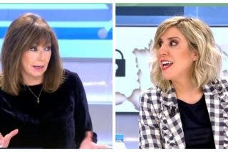 Monumental cabreo de Ana Rosa Quintana con la 'sanchista' de Mediaset