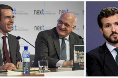 Aznar fue el ideólogo del discurso de Casado contra Abascal y Zarzalejos (FAES) su redactor