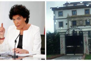 La millonaria ministra Celaá sale de caza y captura de los ciudadanos que pintaron su mansión en Neguri