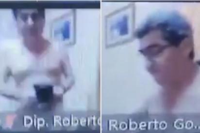 Un diputado de Paraguay, desnudo en una sesión virtual del Congreso