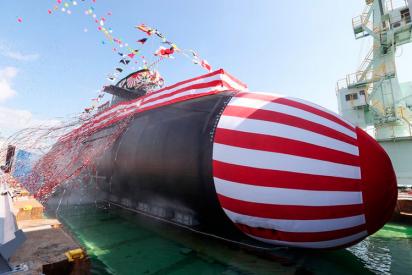 Japón 'estrena' un nuevo submarino en pleno conflicto marítimo con China