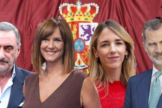 """El bofetón de Herrera a Mónica López (TVE) por su """"perversa"""" pregunta a Cayetana Álvarez de Toledo sobre el Rey"""