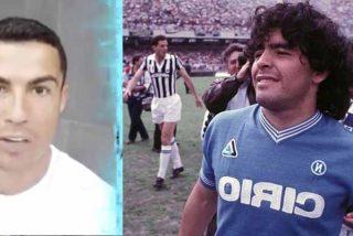 """Las felicitaciones de Cristiano a Maradona por su 60 cumpleaños: """"Un abrazo al número 1, después de 'El Bicho'"""""""