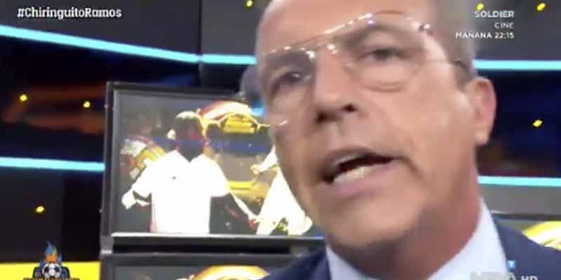 Cristóbal Soria la lía al asegurar que hay madridistas en el plató de 'El Chiringuito' que no quieren que Ramos gane el Balón de Oro