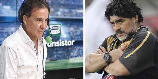 """La brutal experiencia de De la Morena por intentar entrevistar a Maradona: """"Un tipo me puso un revólver en la cabeza"""""""