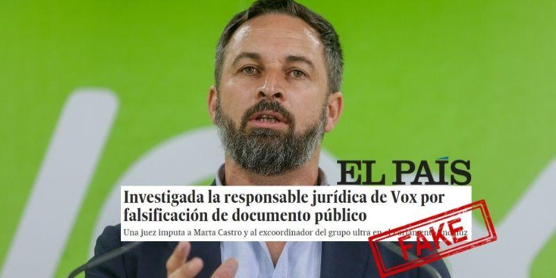 El País, creador de fake news, vuelve a la carga contra VOX con información falsa y le devuelven una dura advertencia