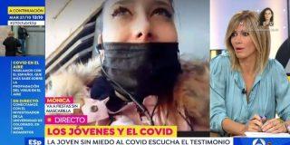 """Salvaje enfrentamiento entre Susanna Griso y la negacionista que sale de fiesta sin mascarilla: """"¡Incauta, no nos das un duro más!"""""""