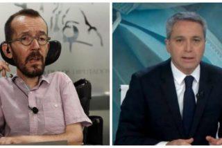 "Echenique vuelve a acosar a Vicente Vallés acusándole de verter ""mentiras"" contra Pablo Iglesias"