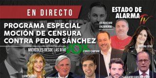 EN DIRECTO / Programa especial de 'Estado de Alarma' sobre la moción de censura contra Pedro Sánchez