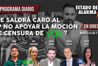 TERTULIA / ¿Le saldrá caro al PP no apoyar la moción de censura de VOX?
