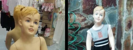 El anuncio comercial que enloquece a las Redes Sociales: una mujer que vende un maniquí de niño 'poseído'