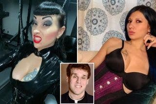 Pillan a este cura grabándose en vídeo, mientras hacía un trío sexual en el altar de la iglesia con estas dos dominatrices