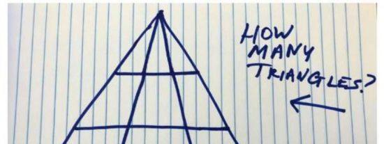 Reto Viral: ¿cuántos triángulos ves en esta imagen?