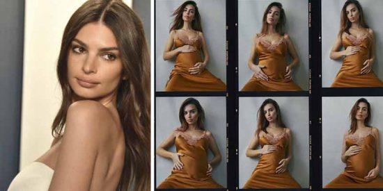 """Emily Ratajkowski desvela que está embarazada con un desnudo total: """"Adoraré este vídeo por siempre"""""""