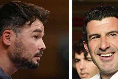 """El repaso de Figo a Rufián: """"He pagado más a Hacienda durmiendo que tú despierto toda tu vida"""""""